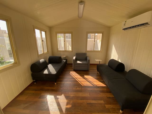 Living Room and sofa beds for three