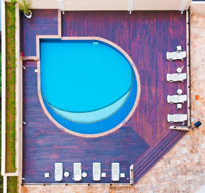 Flat/Apart c Serviços e piscina externa - 25