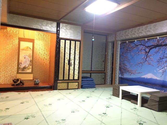 札幌小樽直行 JR駅付近 大空間歓迎家族団体 24H出入自由 FREEWiFi 送迎/駐車場あり