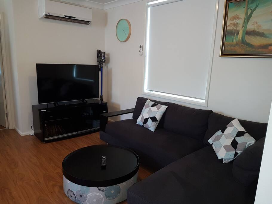 TV unit and Air conditioning.