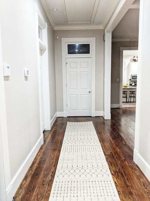 Inviting entrance from the front door
