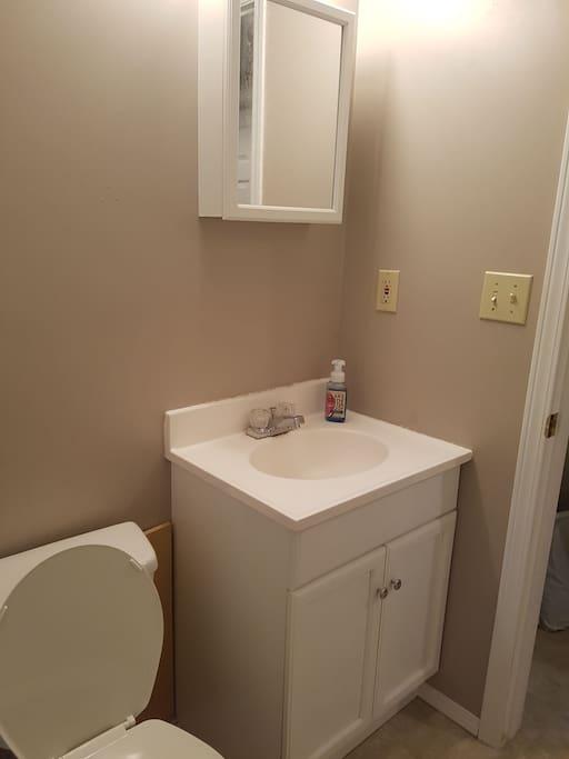 Shared bathroom.