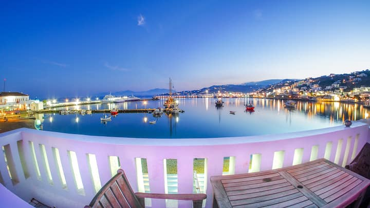 Mykonos Town Pad for 2 pers, free transfer+extras