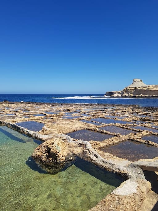 Salt pans are 5 minutes walk from the apartment
