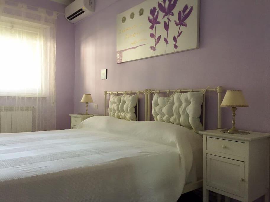 La camera è luminosa, spaziosa e dotata di aria condizionata e acqua calda illimitata
