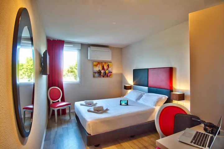Chambre double de 18 m² dans Boutique Hotel proche de Bayonne