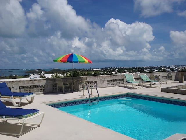 Apt#2, 1bdr of 3 , Grand Water views, pool, patio.