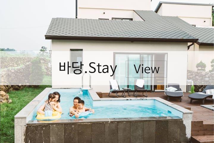 """""""호미하우스-바당.Stay"""" 협재해수욕장 도보1분 제주독채펜션"""
