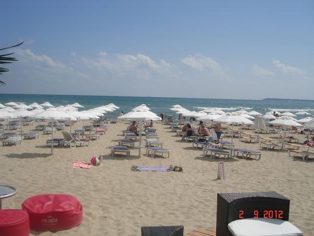 Beach, 30 metres away.