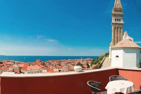 The best sea view apartment Gemma in Piran