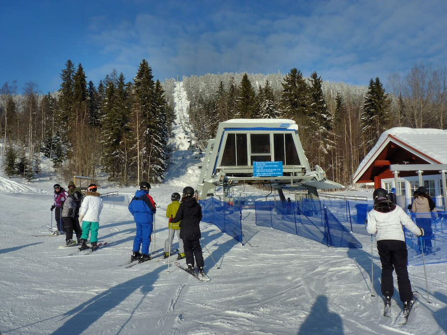 2.4 km to the chairlift