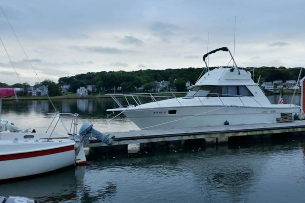 NEW:  Access to our boat for a morning coffee or relaxing evening on the water