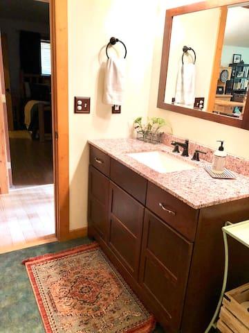 Upstairs bathroom recently updated