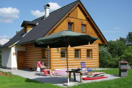 Beautiful villa in lovely nature reserve of the Krkonoše mountains at Roztoky u Jilemnice