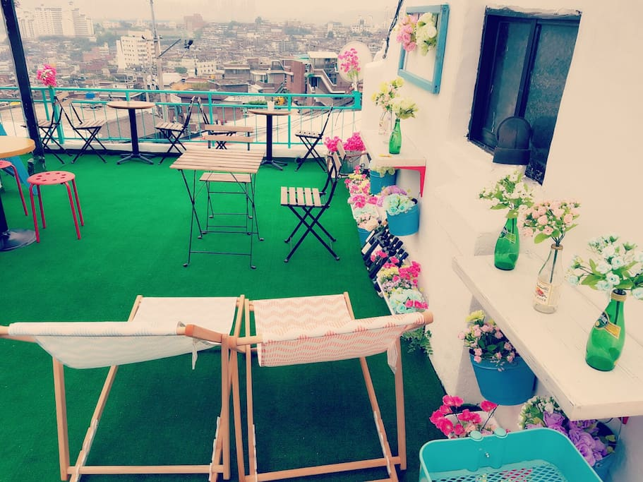 rooftop with hanriver view