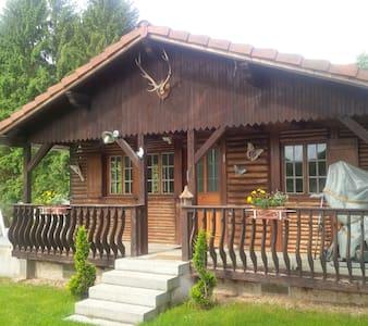 chalet ,terrasse,étang,parc 1 ha - Gumbrechtshoffen - Chalet