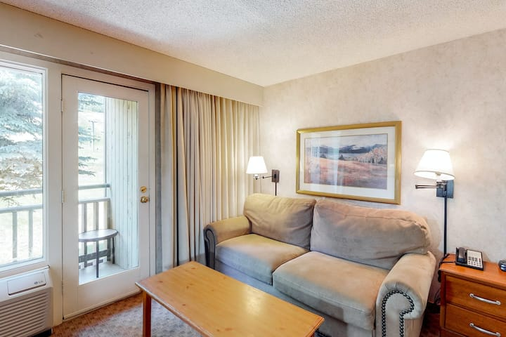 Gorgeous and well-equipped room w/mountain views, shared hot tub, pool, gym