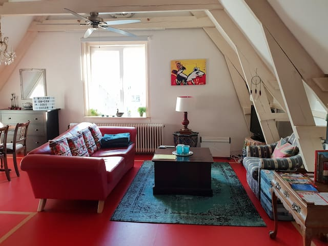 Clean central private loft for 2 in de Pijp/Centre