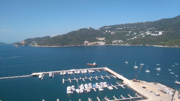 INCREIBLE vista a la bahía-Zona Diamante, Acapulco