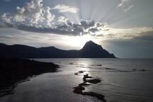 Questo è un meraviglioso tramonto al ritorno da San Vito Lo Capo