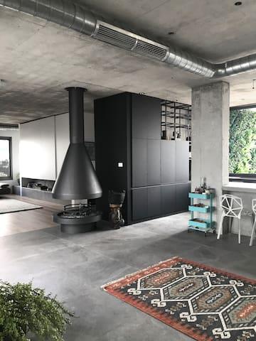 Open concept apartment