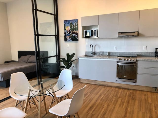 NEW luxury and stylish Loft, near WTC, roof top.