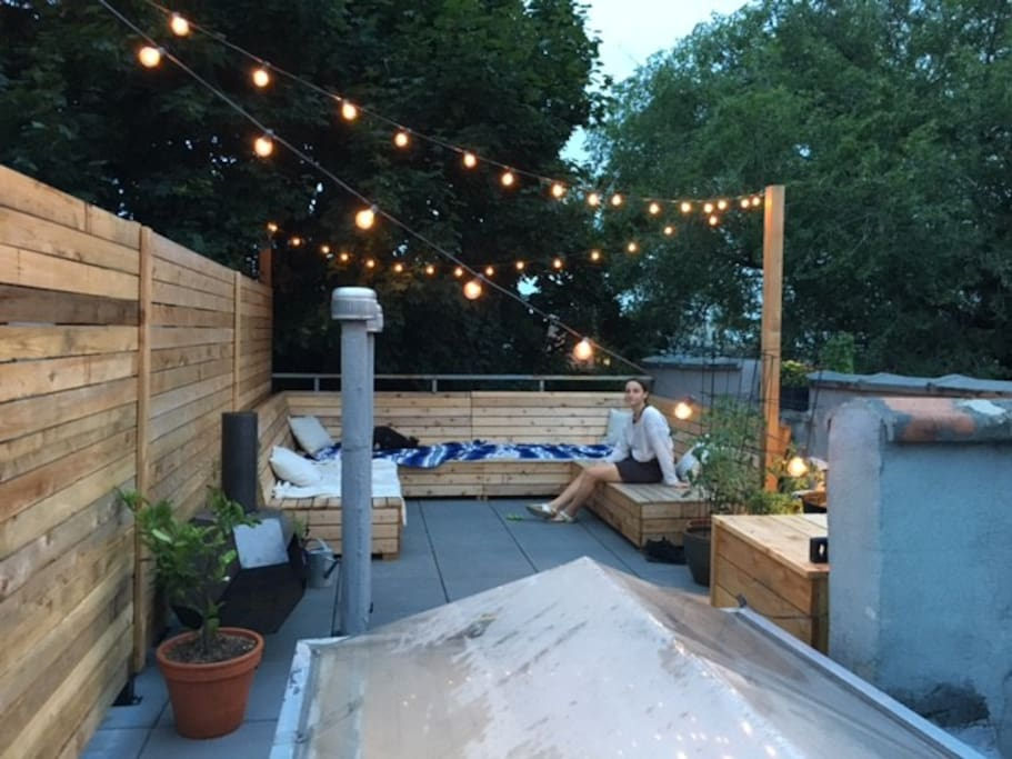 Our lovely private roof top lounge area