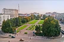 Площадь Горького, Первый Дом слева на фото/ Gorkogo /Square, First left House on the photo