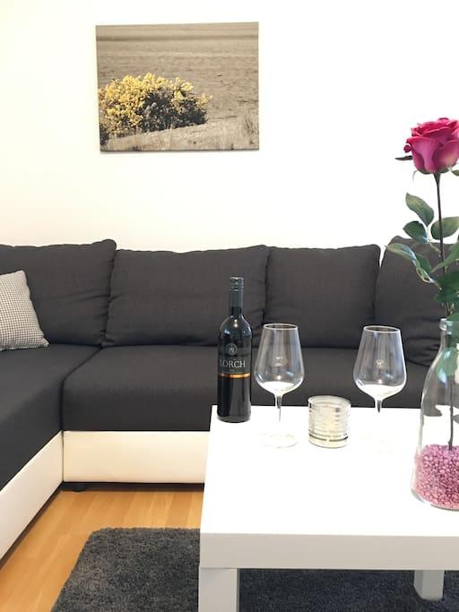 Das gemütliche Sofa, Platz zum Geniessen und Entspannen