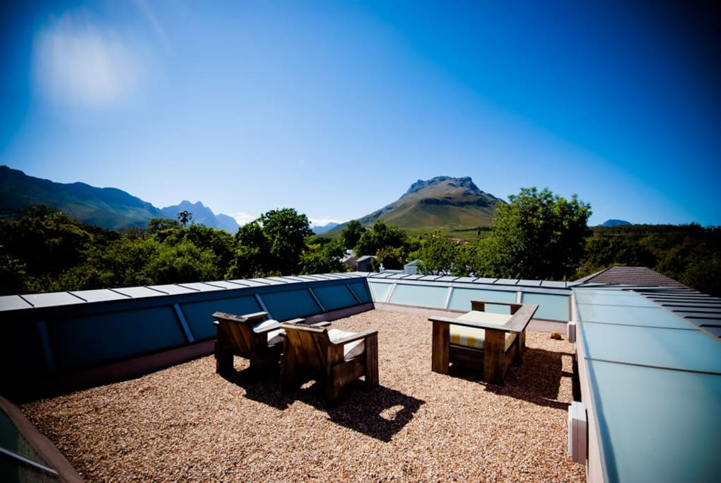 Private Rooftop overlooking the mountains