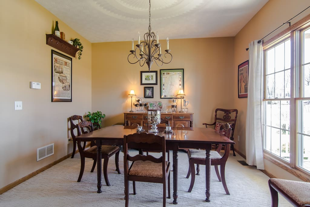 Formal dining room with Wine Fridge