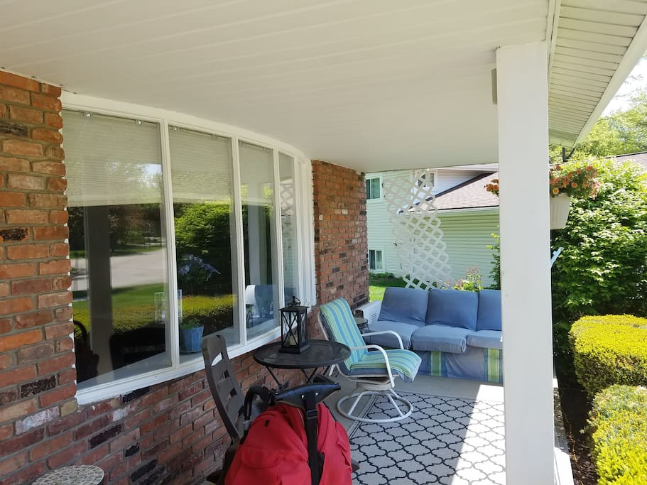 Relax w/ your morning coffee on our private front porch!