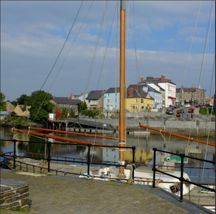 Teifi Wharf - this is where the Granary Lofts are located.  With wonderful views across the river to the town
