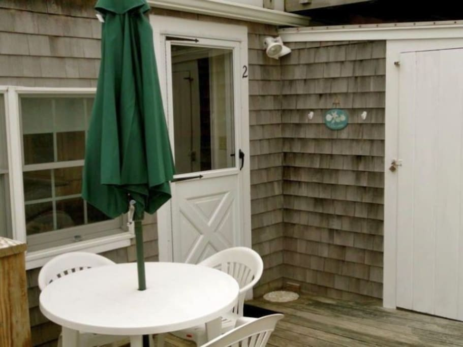 Enjoy the outside patio for cook outs