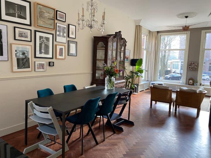Comfortabel gezinshuis aan Vondelpark