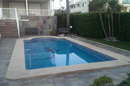 Apartamento en 1ª linea de playa y piscina privada - Xeraco - Apartmen