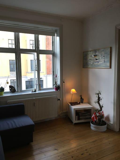 Living room, opposite to sofa.