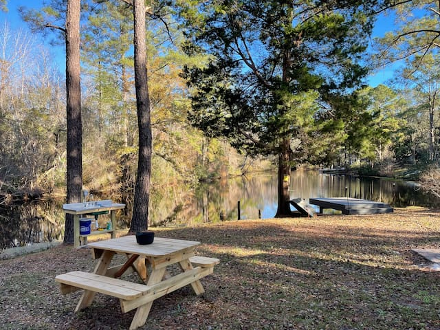 Peaceful Camping Experience on a Waterfront Lot