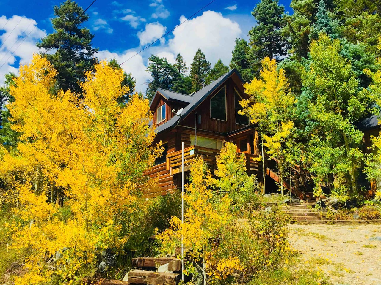 Fall at the Cabin surrounded by Carson National Forest