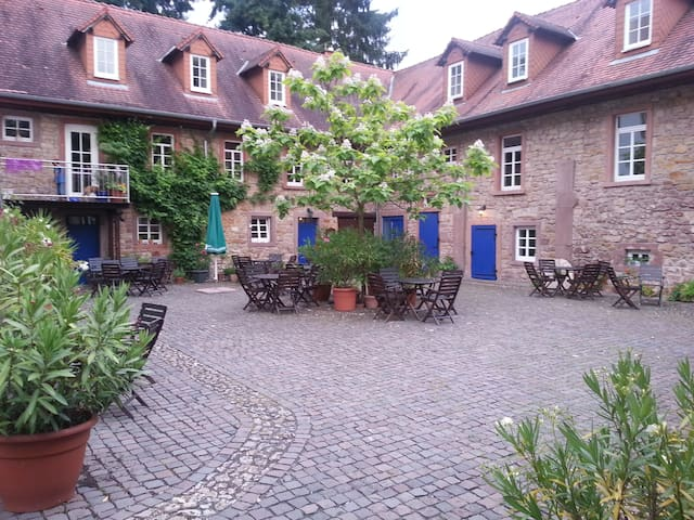 """DZ im historischen Gästehaus """"Felsenmühle im Tal"""""""