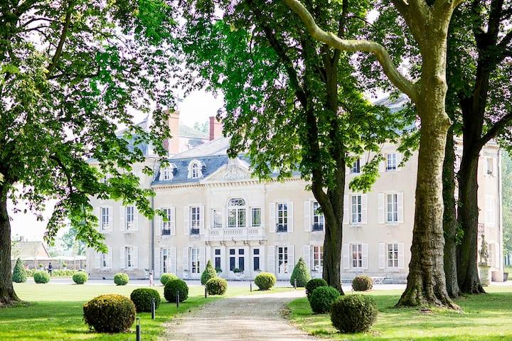 Luxury chateau in the Burgundy wine region