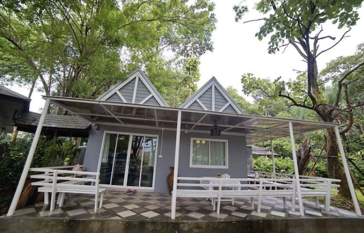 #JungJa hut # a cottage beside the River Kwai