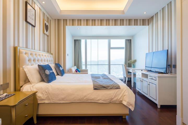 厦门双子塔 临近厦大的超高层山海双景豪华公寓 家庭情侣的度假首选-Room2 - Xiamen - Wohnung