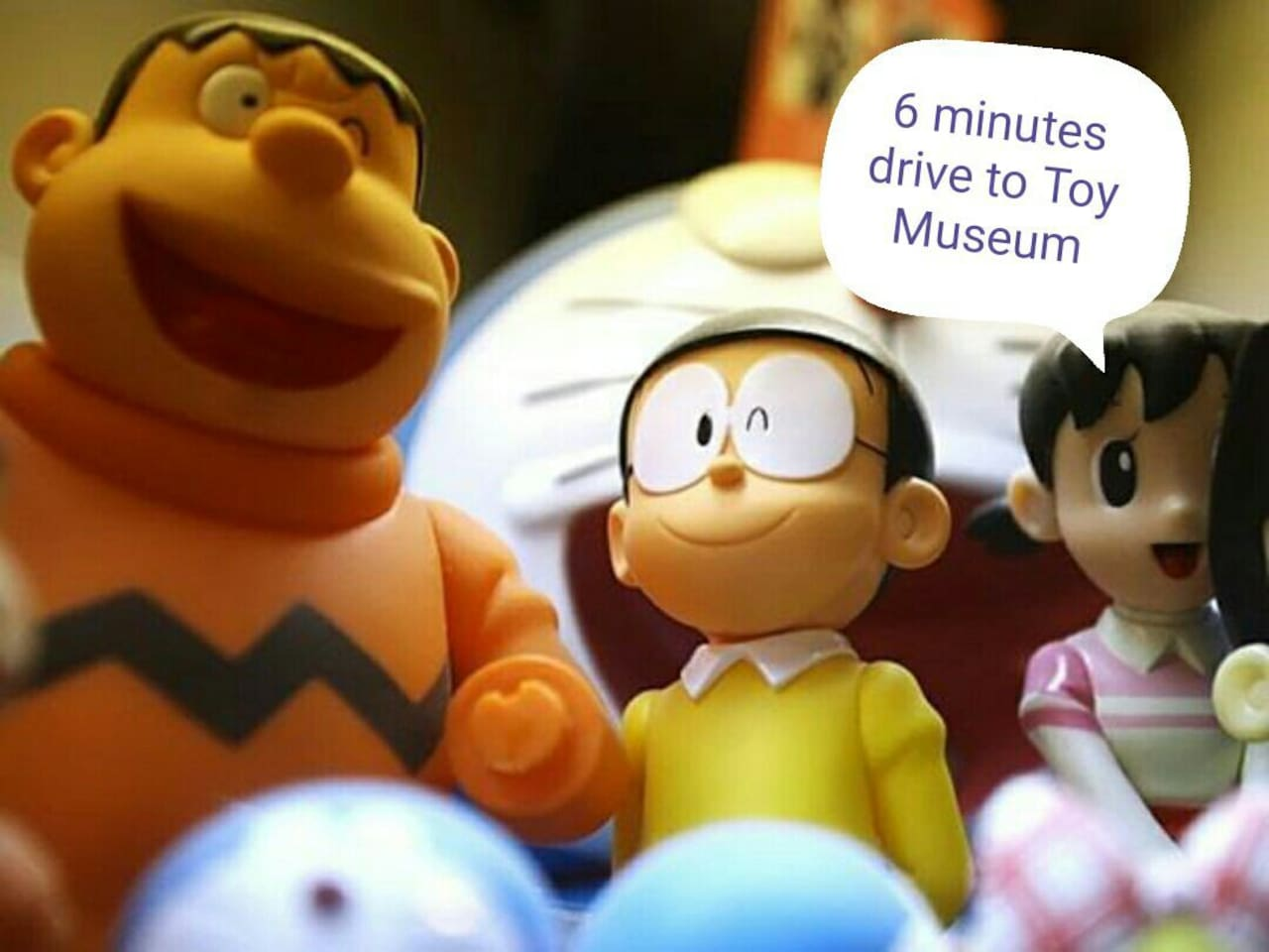 6 minutes drive to Toy Museum