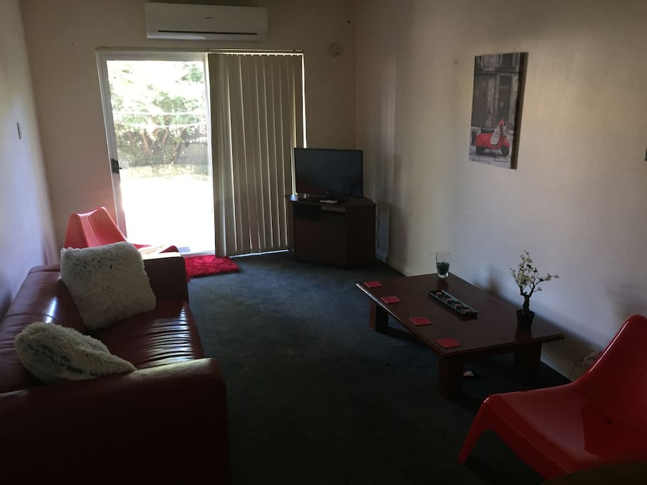 Lounge room of apartment.
