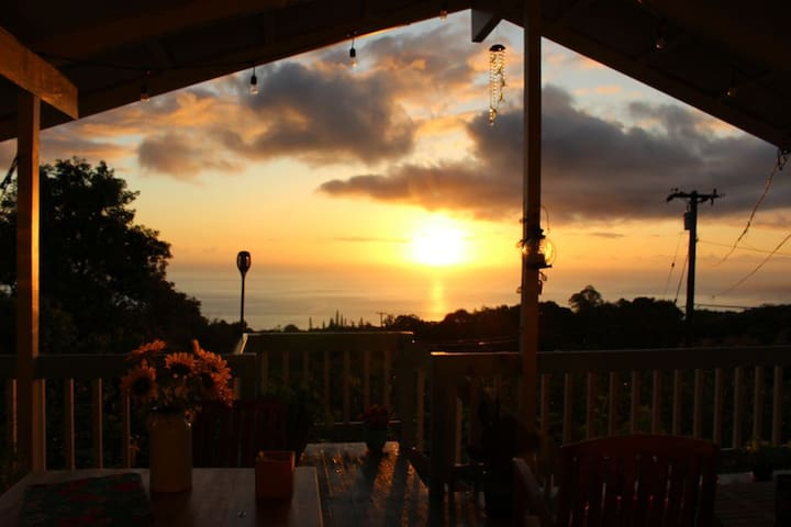 Secluded Coffee paradise, ocean views, 10 min Kona