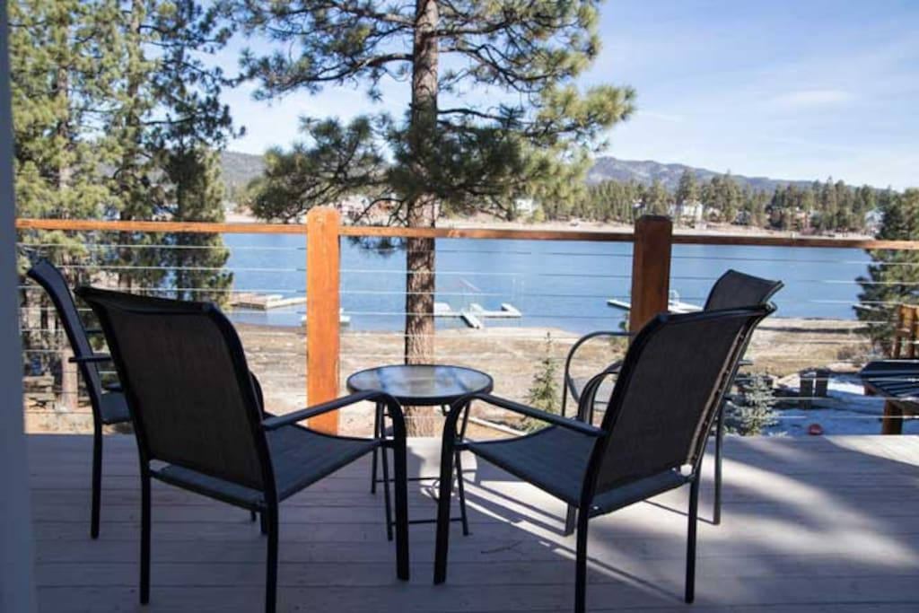 Enjoy a morning coffee from your Master Bedroom deck overlooking the Lake.