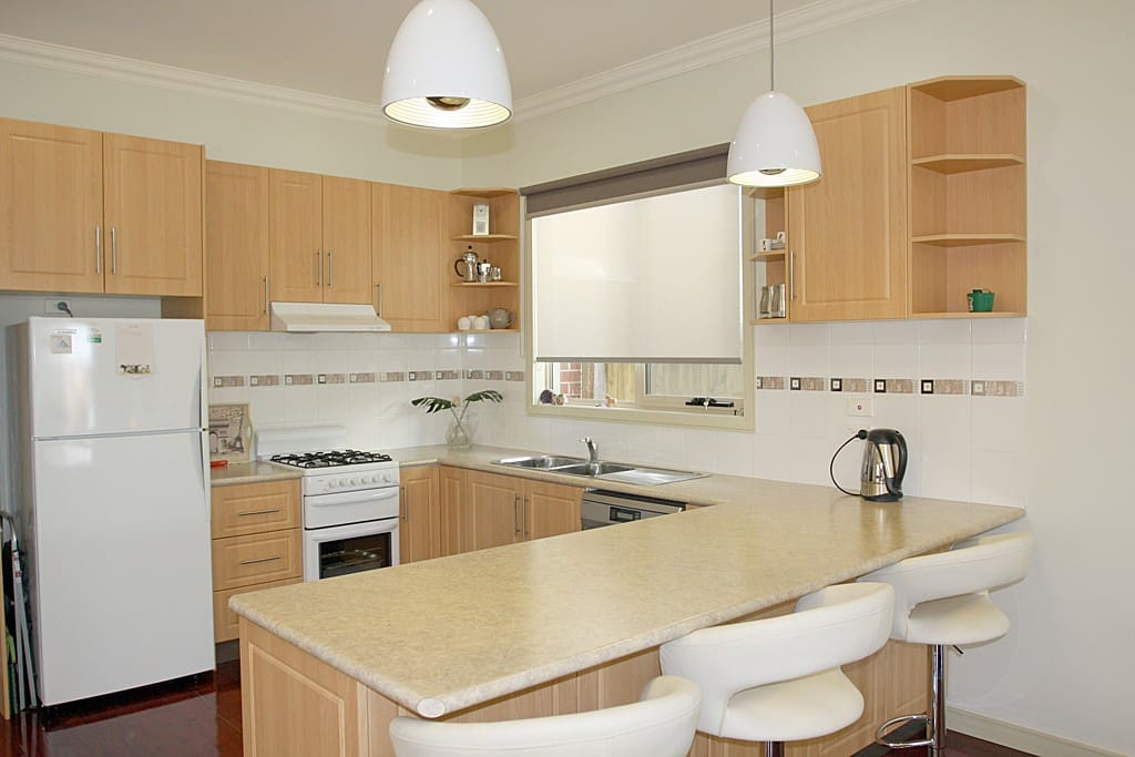 Fully self-contained kitchen with modern appliances