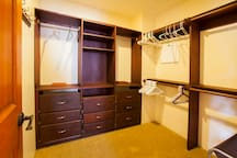 Tend to overpack? No problem with you own Master walk in closet