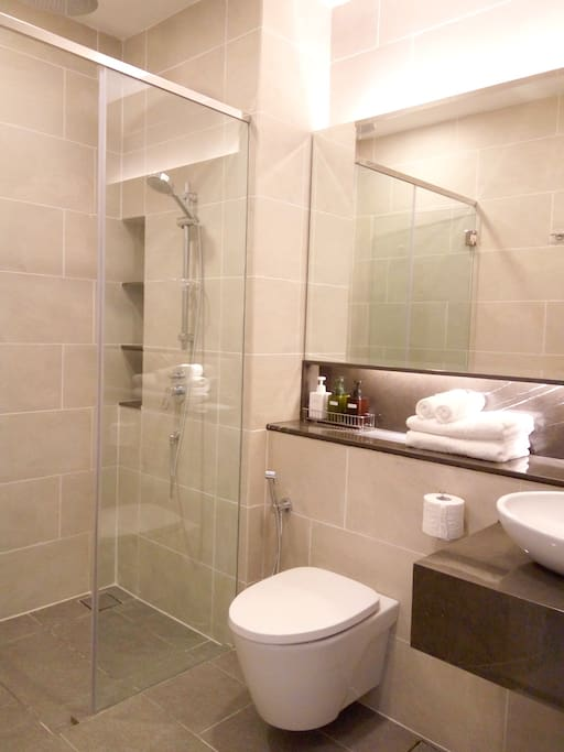 Bathroom with rain shower Compartment